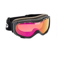 Kleine schmale Skibrille Damen Jugendliche Snowboardbrille rot verpiegelt S