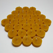 60 BEAUTIFUL 100% BEESWAX NAKED TEALIGHT CANDLE REFILLS NO ADDITIVES