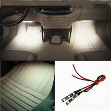 Headlight Projector Gauge Cluster Foot Area Lamps 3SMD White LED Strip Light