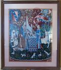 """Vintage Needlepoint Cluny Tapestry Medieval French """"The Lady and the Unicorn"""""""