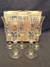 5 Fernet Branca Fratelli Milan Italian Shot Glasses in Box