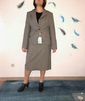 luxueux tailleur jupe laine gris MARELLA taille 42 fr 48i NEUF valeur 440€