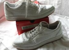 PUMA Sky II Lo mens 11.5 D, WHITE PATENT LEATHER; RARE LOW TOP (PRE-OWNED USED)
