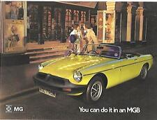MG MGB SALES BROCHURE OCTOBER 1974 FOR 1975 MODEL YEAR