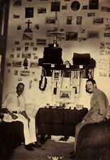 c1890, SUBALTERNS in Arabia, rare informal photo of SOLDIERS in their quarters