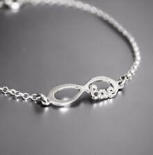Unendlichkeit Love Armband Echt 925 Sterling Silber Damen Schmuck Geschenk