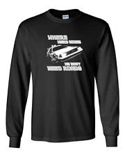087 Roads Long Sleeve Shirt funny back 80s movie to future back mcfly delorean