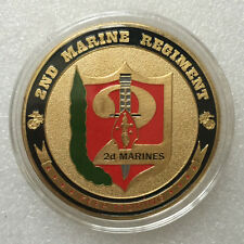 USMC 2nd Marine Regiment GP Challenge Coin