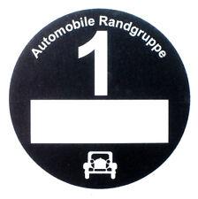 3 St. Umwelt-. Feinstaubplak. Automobile Randgruppe, Oldtimer, schwarz, festkl.