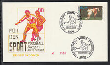 W 01 ) Germany 1988 beautiful FDC for European Football Championship