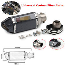 Universal Inlet 36-51mm Motorcycle Exhaust Pipe Muffler DB Killer Carbon Fiber