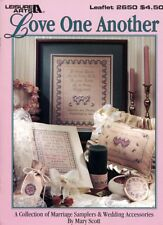 Love One Another Marriage Samplers Wedding Accessories Cross Stitch Pattern NEW