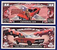 1-General Lee - Dukes of Hazzard -Dollar Bill Funny TV series-Car- MONEY-Y1
