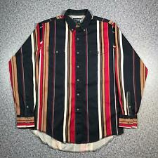 90s Vintage WRANGLER WESTERN SHIRTS Mens Medium Long Sleeve Shirt | Striped