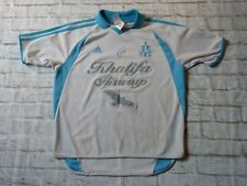 Maillot signé OLYMPIQUE DE MARSEILLE OM signed FRANK LEBOEUF ultras foot