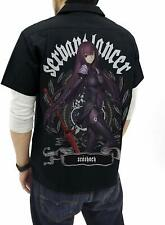 Fate Grand Order Lancer Scathach Shishou Work Shirt Full Color Back Cospa Size M