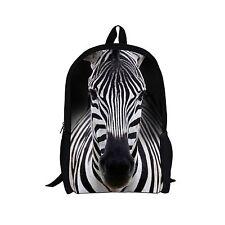 Animal School Backpack Bag For Teenagers, Zebra Print Rucksack mochila escolar