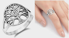 """Sterling Silver 925 PRETTY WOMEN'S """"TREE OF LIFE"""" BAND DESIGN RING SIZES 4-10"""