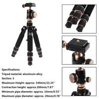 3 Section Short Photography Tripod Head Monopod Stand Mount for DSLR Camera