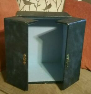 RARE Small VINTAGE ■ LORD ELGIN ■ Blue Wooden Padded Lined Box / case / Chest 👏