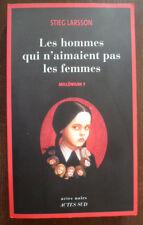 """""""LES HOMMES QUI N'AIMENT PAS LES FEMMES""""~STIEG LARSSON~MILLENIUM 1~ACTES SUD~"""