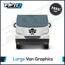 Large Van Tribal Piston Skull Bonnet Vinyl Sticker Graphic Decal Racing Car Van