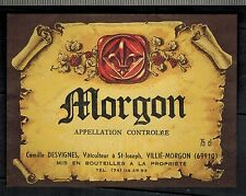 Etiquette Vin De Bourgogne - Beaujolais Villié-Morgon -A.Morel - Réf.n°85