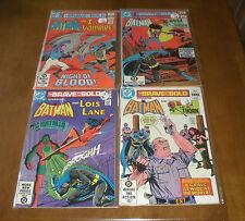4 BRAVE AND THE BOLD DC COMICS - BATMAN - 175 - 188 - 189 - 195