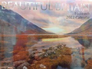 16 Month 2022 Wall Calendar - Large Squares Beautiful Britain.