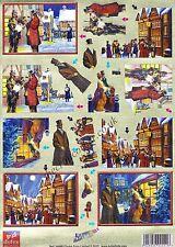 Victorian Christmas Die Cut Dufex 3d Decoupage Card Making Craft NO CUTTING REQ