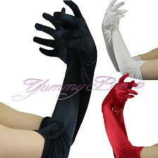 Yummy Bee Gloves Long Satin Evening Wedding Party Fancy Dress Prom Opera Women (