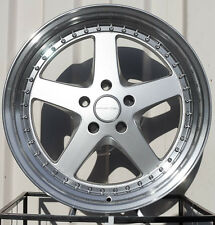 Varrstoen Es8 19X9.5 5X120 Et20 Hyper Silver W/ Machined Lip (1 Wheel Only)