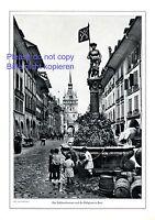 Schützenbrunnen in Bern XL Fotoabb. 1914 von Wehrli Käfigturm Kinder Schweiz -