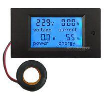 AC80~260V100A 4 in 1 LCD Digital Combo Panel Meter Volt Amp Power Watt Hour + CT