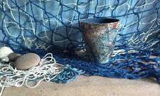 Plant pot terracotta upcycled shabby chic decorative gift idea nautical coastal