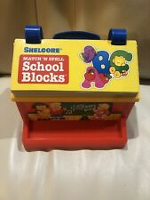 Vintage Shelcore Match 'N Spell School Blocks Homeschool Spelling Cute Activity