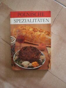 DDR Kochbuch  Verlag für die Frau 1987 Polnische Spezialitäten