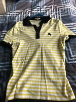 Yellow Burberry Mens Polo Shirt, Med, Worn Once