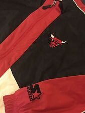 Vintage Chicago bulls Classic Starter Jacket Mens Red White Black Size Medium M