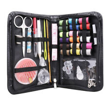Mini Beginner Sewing Kit Case Set Supplies Adults Kids Home Travel Camper Black