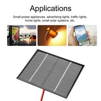 12V Solar Panel System + Crocodile Clip For DIY Battery Cellphone Charger Module