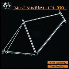 TiAtom/Titanium Frame Cyclocross Gravel Touring Bike Bicycle Ti3Al2.5V Custom