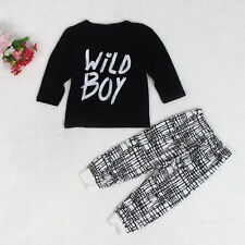 2pcs Newborn Toddler Infant Baby Boy Clothes T-shirt Tops and Pants Outfit Set