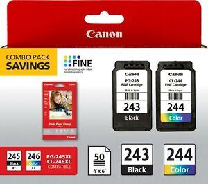 Genuine Canon PG-243 + CL-244 Ink Cartridges MG2522 TS202 TR4520 TS3122 MG2525