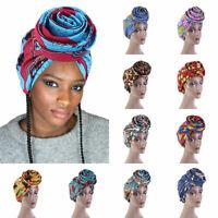 African Women's Stretch Bandana Muslim Hijab Headscarf Hats Head Wrap Chemo Caps