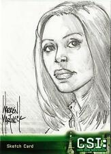 CSI Series 3 Sketch Card drawn by Warren Martineck of Mia Dickerson