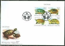 TOGO  2013 TURTLES SHEET  FIRST DAY COVER