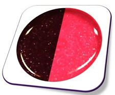 5ml UV Exclusiv Thermo Farbgel Farbwechsel: Weinrot-Neon Pink Glitter Gel Nr.802