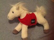 Wells Fargo White Horse Legendary Pony Snowflake 2011 Plush Stuffed Animal Euc