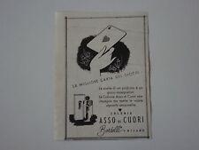 advertising Pubblicità 1941 COLONIA ASSO DI CUORI BERTELLI